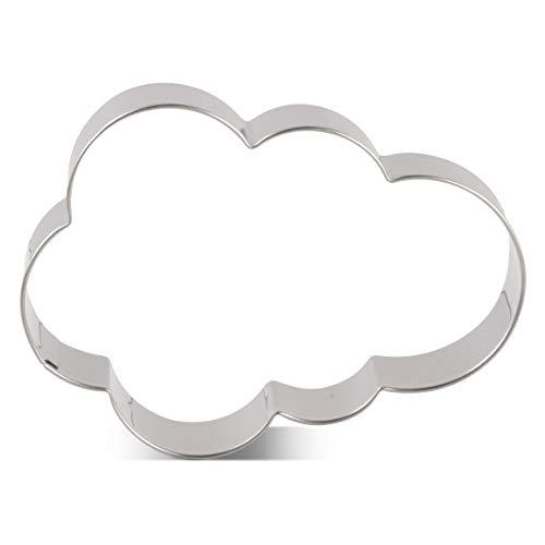 KENIAO Cortadores Galletas Nube Molde para Galletas - 9,2 x 6,6 cm - Acero Inoxidable