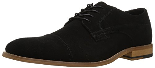 Stacy Adams Men's Deacon Cap Toe Oxford, Black Suede, 7.5 M US