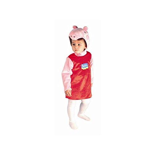Peppa Pig - Costume per travestimento da Peppa Bambina, 1-3 anni