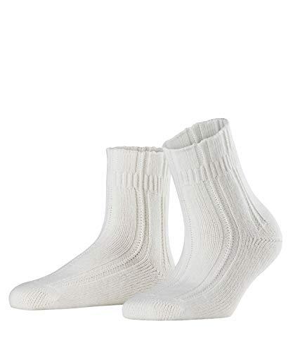 FALKE Damen Socken Bedsock, Gr. 35-38, Weiß (off-white 2049) - Angora Socken