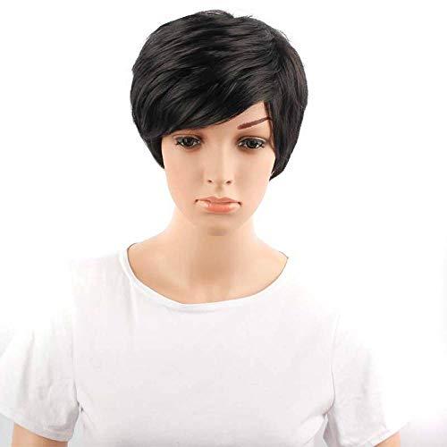 Littlefairy Heiß-Verkauf Perücke Kurze Bobo Kopf schräg Knallt gefälschte Glattes Haar Perücken