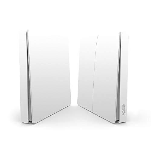 Blusea Aqara Wandschalter Intelligente Türklingel Lichtsteuerschalter WiFi 2,4 Ghz Drahtlose Fernbedienung Home Kit von Mi Home App (DoubleKey) (Drahtlose Fernbedienung Türklingel)