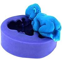 Yililay Pastel de Silicona del Molde del Molde de Silicona Torta de jabón decoración Dulces Tridimensional bebé, Utensilios de Cocina