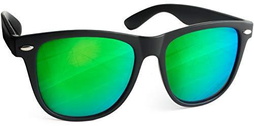 UVprotect Sonnenbrille retro Design Herren und Damen W100 (Gruen)