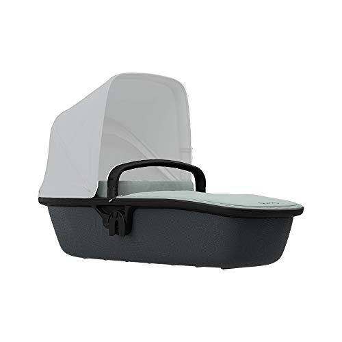 Quinny Lux Kinderwagenaufsatz, passend für Buggy Zapp Flex und Zapp Flex Plus, ultraleichte Babywanne, robust und atmungsaktiv, nutzbar ab der Geburt bis 6 Monate, grey on graphite