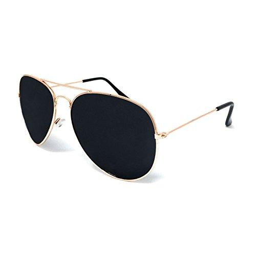 f766e0531e Aviator Sunglasses - Unisex Shades Top Gun UV400 Mens Ladies (Gold Frame