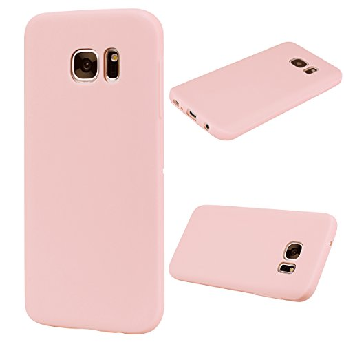 Forhouse Hülle Samsung Galaxy S7 Edge Anti-Scratch, Slim Back Cover Personality Design Clear TPU Hülle Back Cover for Samsung Galaxy S7 Edge - Light Pink