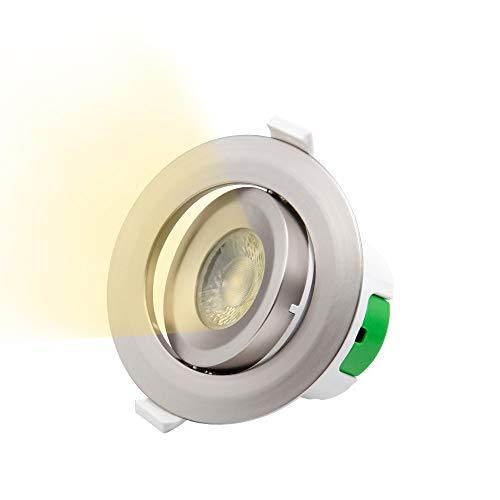 9w Led Spot Lampe (LED Spot Deckenstrahler Einbauspot Strahler Lampe Decke Schwenkbar Kunststoff Metallfarbe 9W Warmweiß 3000K AC100-240V Deckenloch 85-90MM Lichtrichtung Einstellbare, 1er Pack von Enuotek)