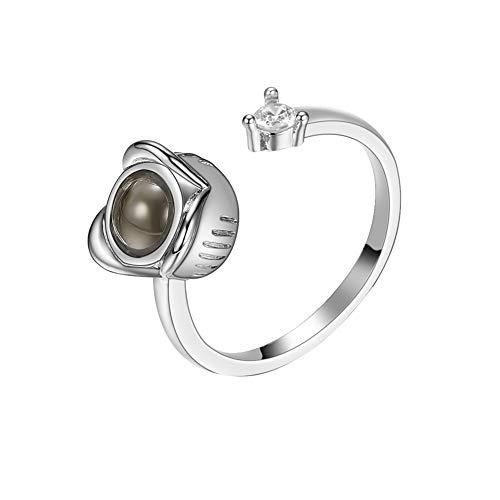 Floweworld Damen-Rosen-Ringe justierten Edelstahl-Ring-Kristallring-Schmuck-Geschenk für Frauen-Mädchen -
