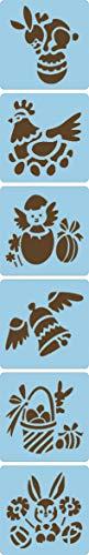 Avenue Mandarine Set (mit 6 Schablonen, 15 x 15 cm, geeignet für Kinder ab 3 Jahre, für Filz- und Farbstifte, Farben oder Farbbomben) 6er Pack