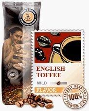 Coffee-Nation Aroma-Kaffee English Toffee 1000g Bohnen | Spitzenqualität | Kaffeeliebhaber