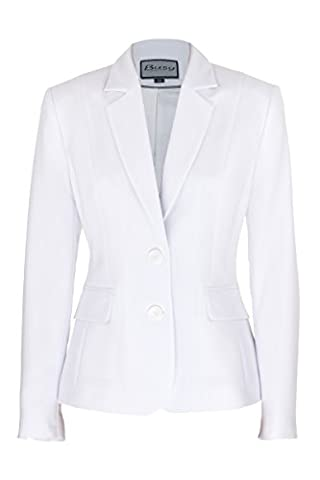 Busy Clothing Womens White Suit Jacket – Size 14
