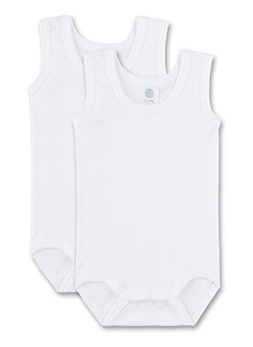 Sanetta Unisex - Baby Body 321859, 2Er Pack, Einfarbig, Gr. 62, Weiß (White 10)