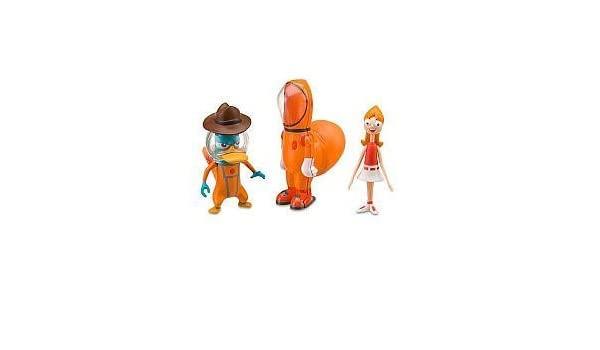 Disney Phineas and Ferb Agent P /& Candace Tootin Space Suit Action Figure Set