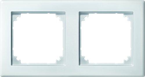 Merten 484219 M-SMART-Rahmen, 2fach, polarweiß, 1x 2f