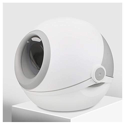 Toilette per gatti Lettiera Ciotola, Completamente Chiusa Extra Large Toilette Gatto, Deodorante e Anti-Spruzzi, Pot Gatto, Gatto alimenta i Gatti necessarie (Color : Gray)