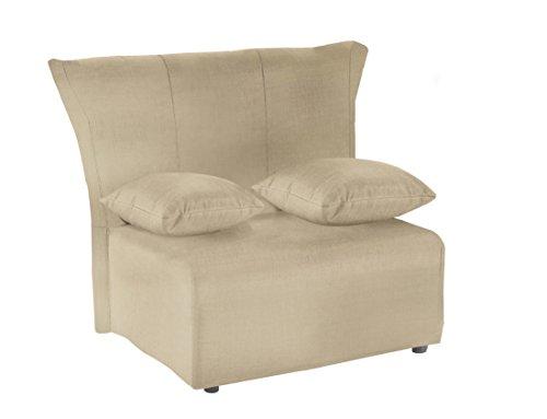 13casa - cedro p2 - poltrona letto. dim: 80x90x85 h cm. col: ecru. mat: metallo, cotone.