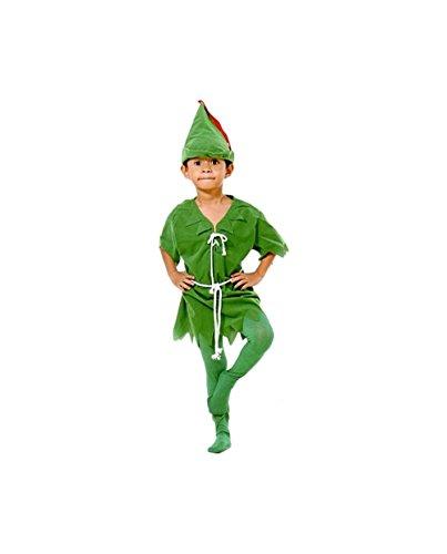 r Pan Kostüm Kinder 5+, Grün, 373065 ()