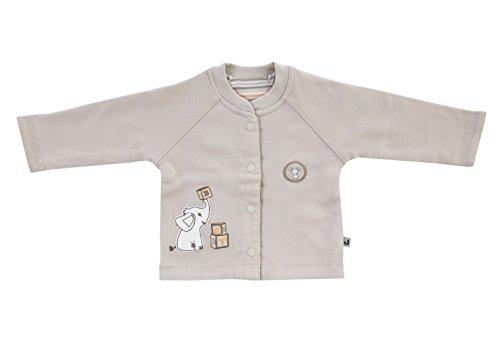 Jacky unisex Baby Wende Jacke, 100% Baumwolle, Beige/Ringelstreifen, Jacky Elephant, Gr. 44, 294101
