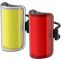 Knog Mid Cobber Twinpack 10.75656, Feux de Vélo, éclairage avant et Arrière, LED 320 et 170 lm, Jaune/Noir et Rouge/Noir