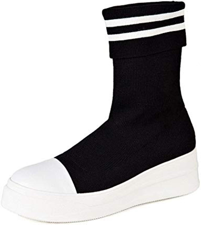 Lucdespo Ladies Casual scarpe High Socks Socks Socks Calzature sportive Casual Medium Tube Elastic stivali Thick And Breathable...   Prezzo ottimale  d093d0