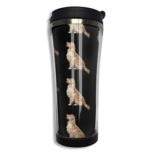 Vacuum Insulated Stainless Steel 420 ML Golden Retriever Dogs Coffee Mug Double Wall Vacuum Insulated Cup For Travel Home Office School Men,Women Wall Insulated Travel Mug