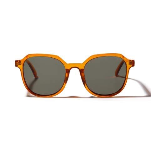 WENZHEN Transparente quadratische Sonnenbrille weiblich Retro, UV-Schutz, Männer und Frauen,