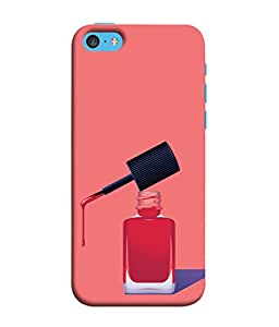 PrintVisa Designer Back Case Cover for Apple iPhone 5c (Nail Polish Girls Best Friends Girl Make Up Pink )