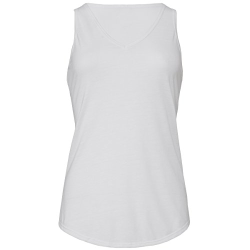 Flowy v-neck tank top Bella Canvas Streetwear Canotta Donna White
