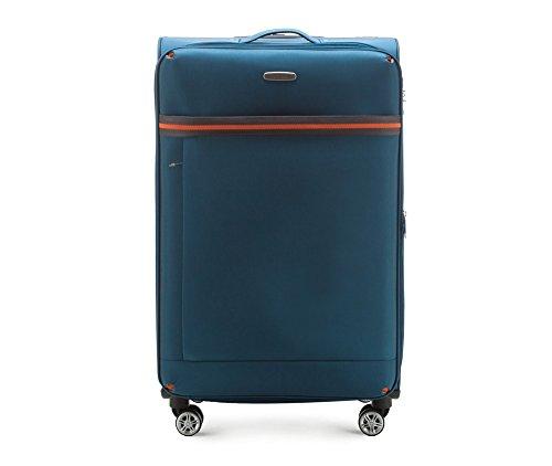 WITTCHEN Koffer - Weich | 81x47x31cm, 96 L, 3.9 KG | Material: Polyester, Blau | Kollektion: Comfort Line - 56-3S-493-95