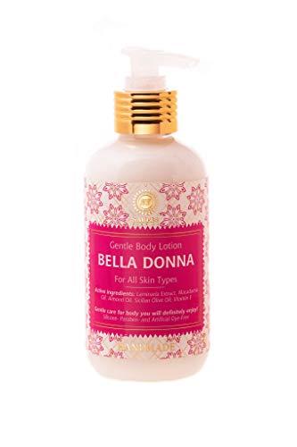 Body-lotion Naturkosmetik, Weiche feuchte Haut, Zartweich, gepflegtes Gefühl und langer Duft, Vegan, Bio-Extrakte (Bella Donna)