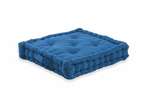 Gepolsterte Kissen (Galileo S.P.A. 2416787blau gepolsterte Sitzhöhe Kissen-Kissen (Polster) Sitzhöhe, Bürostuhl, Blau, quadratisch, Einfarbig, Verschluss mit Druckknopf)
