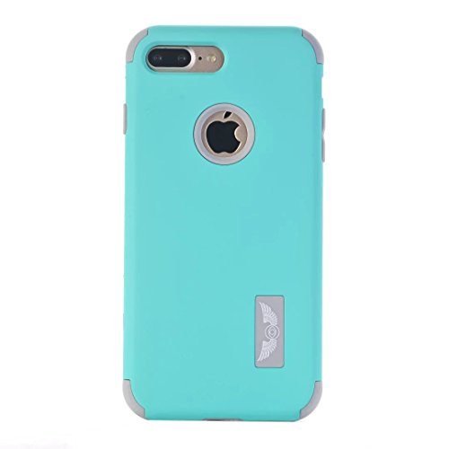 iPhone 7 Plus Coque,Lantier Frosted Matte Finish design Angel Eyes Series Durable 3 en 1 Combo double couche antichoc Defender couverture arrière pour Apple iPhone 7 Plus 5,5 pouces Or Rose+Rose Mint Green+Grey