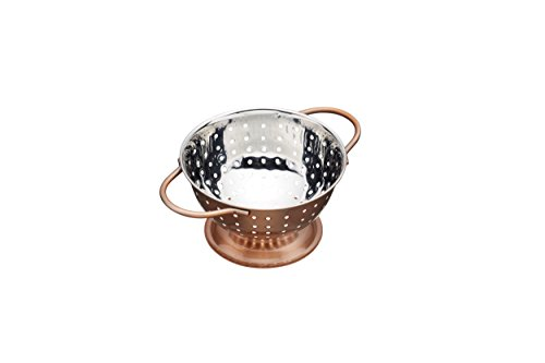 "Master Class Artesà Mini Stainless Steel Colander, 14.5 cm (5.5"") - Copper Effect"
