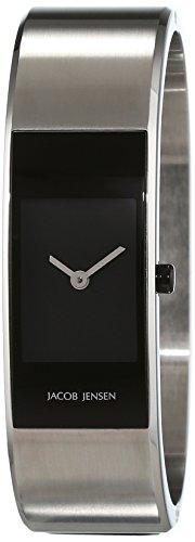JACOB JENSEN Damen Analog Quarz Uhr mit Edelstahl Armband Eclipse Item NO. 441