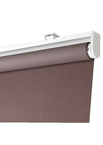 dusg Estores Collection Estor Enrollable Liso Persianas Sistema de Resorte semiautomático Completo apagón marrón Oscuro (reproducción) 80 × 160 CM
