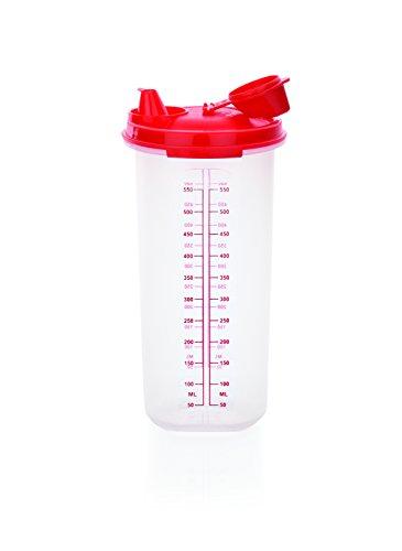 Messbecher aus Polypropylen - mit Deckel und Ausgießer mit Verschlusskappe / Inhalt: 0,65 Liter, Höhe: 20,3 cm, Ø 9,3 cm