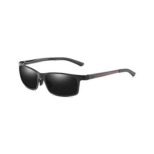 WITTMANN Driving Sonnenbrillen Polarisierte Brillen Sportbrillen UV400 Schutz Angeln Golfbrille Für Herren Damen Unisex (Farbe : Schwarz)