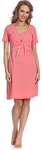 Italian fashion if camicia da notte premaman d4l4r2s 0114 (salmone, s)