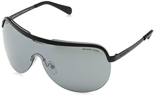 Michael Kors Damen SWEET ESCAPE 11406G 0 Sonnenbrille, Matte Black/Gunmetalmirror, 58
