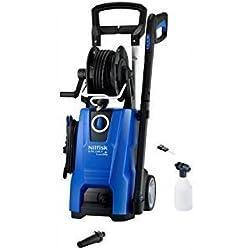 Nilfisk D-PG 140.4-9 X-TRA Vertical Eléctrico 500, 450l/h 2400W Negro, Azul Limpiadora de alta presión o Hidrolimpiadora - Limpiador de alta presión (Vertical, Eléctrico, 9 m, 5 m, Negro, Azul, Aluminio)