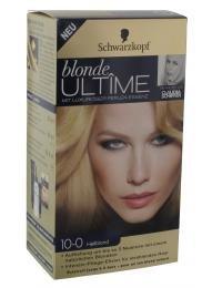 Schwarzkopf blonde Ultîme mit Luxuriöser Perlen-Essenz Haarfarbe Nr. 10-0 Hellblond für eine Aufhellung um bis zu 2 Nuancen mit einem kühlen Blondton.