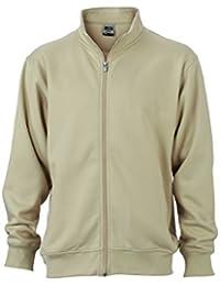 James & Nicholson Hombre Workwear Chaqueta Sudadera N9294, hombre, Workwear Sweat Jacket, gris, S