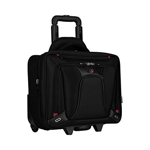 Wenger 600664 Transfer erweiterbar auf Rädern Laptop Aktentasche, gepolsterte Laptopfach mit iPad/Tablet / eReader Tasche in schwarz {18 Liter} -