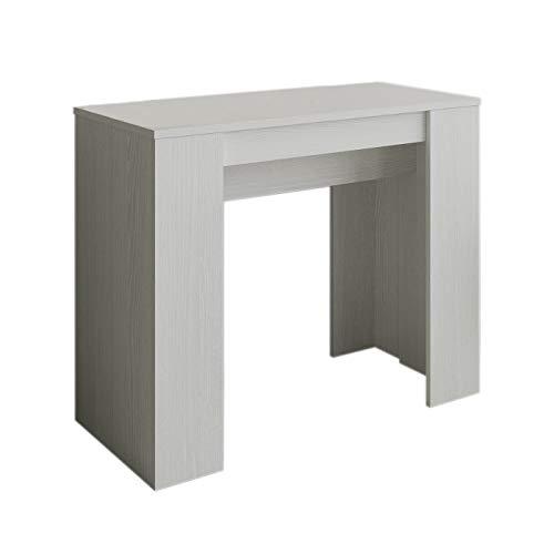 Itamoby basic - consolle allungabile, pannelli di nobilitato, bianco frassino, 90 x 48 x 77 cm