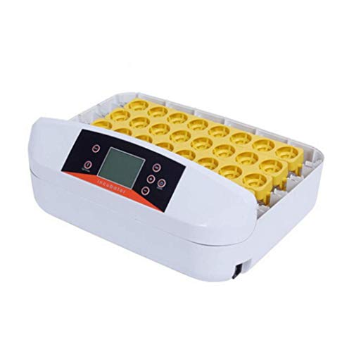 FOTEE Brutkasten für hühner, Digital Vollautomatische Brutkasten Temperaturregelung mit LED Temperaturanzeige für Hühner Enten Gänse Vögel,White_56 Egg