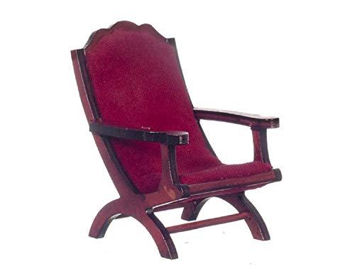 Melody Jane Puppenhaus Mahagoni Campeachy Stuhl Miniatur Wohnzimmer Möbel 1:12 Maßstab - Handwerker Wohnzimmer Stuhl