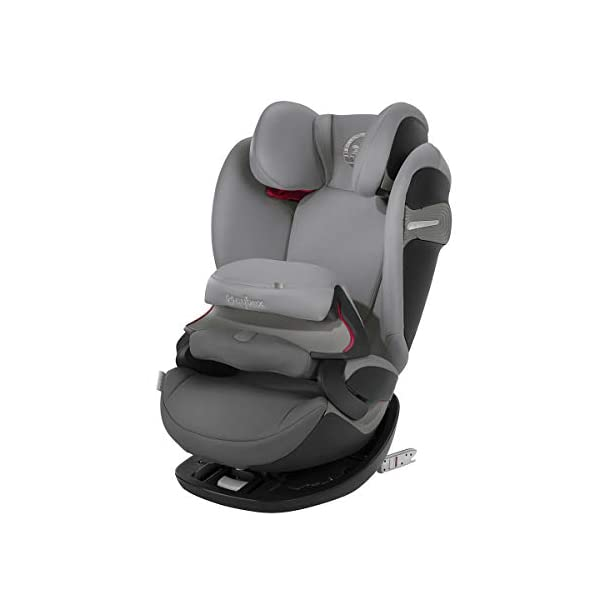cybex Gold Pallas S-Fix Car Seat, Group 1/2/3, Manhattan Grey  Group 1/2/3 combination car seat. suitable from 9 - 36kg. designed to be used until a maximum height of 150cm, approximately 12 years. The optimized impact shield of the pallas s-fix reduces the risk of serious neck injuries without confining the child. shield suitable until 18kg. The integrated lisp. system offers increased safety in the event of a side-impact collision by reducing the forces by approximately 25%. 1