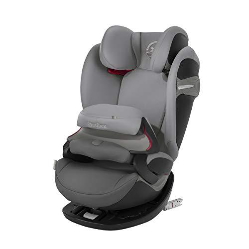CYBEX Gold 2-in-1 Kinder-Autositz Pallas S-Fix, Für Autos mit und ohne ISOFIX, Gruppe 1/2/3 (9-36 kg), Ab ca. 9 Monate bis ca. 12 Jahre, Manhattan Grey -