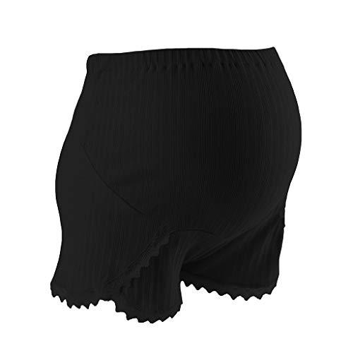 Lonshell Spitze Shorts für Schwangere Kurze Umstandsshorts Mutterschaft Unterhosen mit Komfortable Elastische Bund Schwangerschaftshose Maternity Umstandshose Umstandsmode -